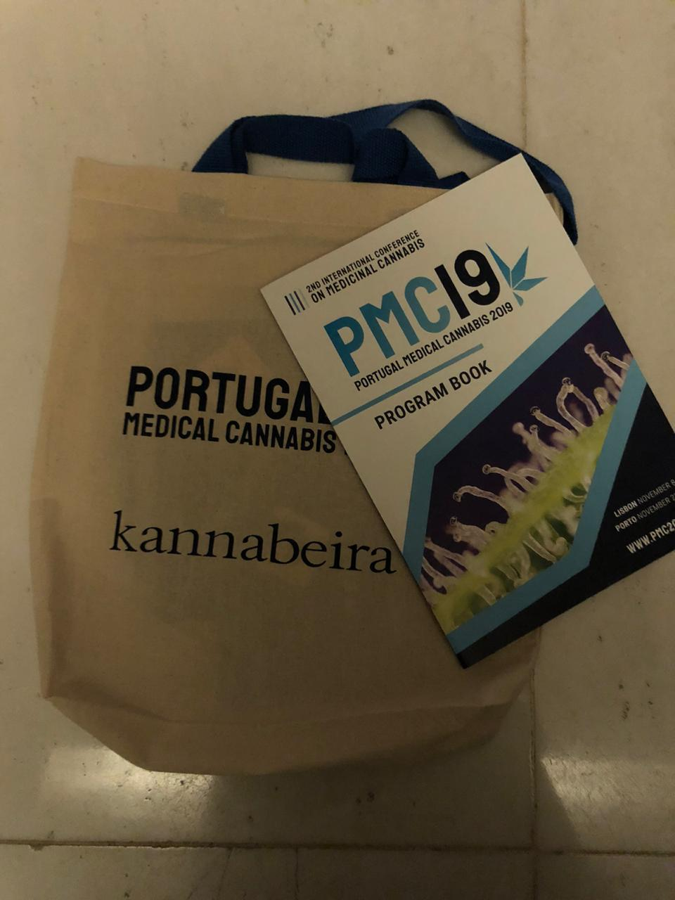 Picture of swag bag at Portugal Medical Cannabis 19 - Kannabeira